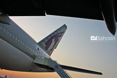 Qatar Airways (Boeing 777-300) (aeroBahrain) Tags: sky plane airplane photography bahrain airport flag aircraft aviation jet airshow airbus boeing cessna manama airbase facebook bombardier twitter instagram aerobahrain