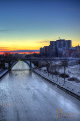 Vertical Sunrise on the Canal (pixelcraftstudio) Tags: winter canada ice canal ottawa skate winterlude