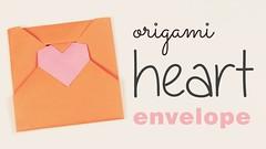 Origami Heart Envelope Tutorial (paperkawaii) Tags: origami instructions paperkawaii papercraft diy how video youtube tutorial