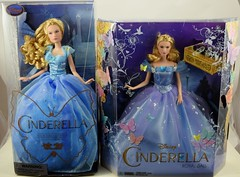 Blue Gown Cinderella Dolls - Disney Store vs Mattel - Boxed (drj1828) Tags: blue standing ball us doll princess review royal cinderella gown purchase disneystore 2015 11inch productinformation deboxed liveactionfilm disneyfilmcollection