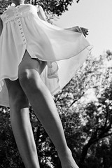 Seda natural (Ges Rules ) Tags: trees light blackandwhite woman white nature girl beauty forest countryside soft hand dress arm natural legs skin buttons young silk naturallight delicate seda vestido