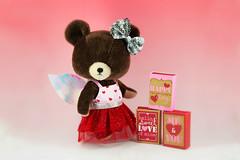 Happy Valentine's Day (littlebearschool) Tags: bear pink school cute love japan sweater jackie day heart teddy bears plush fairy mohair kawaii figure valentines cupid february limited edition bandai the sekiguchi jointed