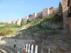 Murallas de la Alcazaba desde el Teatro Romano, Mlaga (Virginia Gin) Tags: andaluca nikon andalucia mlaga