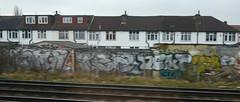 Trackside London - T32 Dent (cocabeenslinky) Tags: street city uk england urban streetart london art train lumix photography graffiti track artist photos south graf united side capital kingdom dent panasonic graff february artiste trackside 2015 t32 dmcg6 cocabeenslinky