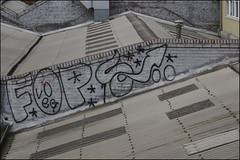 Fops (Alex Ellison) Tags: urban rooftop graffiti boobs graff veg southlondon trackside fops famos
