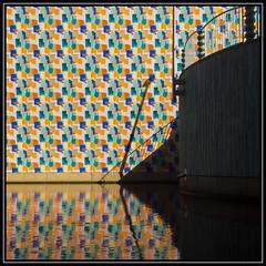 Colours, shadows & reflections (Ciao Anita!) Tags: friends reflection netherlands museum colours shadows ombra nederland museo groningen reflexions schaduw colori olanda riflesso groningermuseum weerspiegeling kleuren theperfectphotographer haagsehopjes