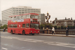 MD 162 , OUC162R . Westminster Bridge .12-7-80. (busmothy) Tags: md 1980s metropolitan londontransport mcw metroscania md162 nxnewcrossgarage 53tocamden ouc162r