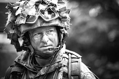 Exercise Steel Sabre (Si Longworth (Army Photographer)) Tags: uk people white black monochrome portraits real soldiers artillery otterburnranges 1arttillerybrigade