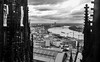 Rhein river from Cologne's cathedral (Marco Sky) Tags: bw rio river nikon cathedral dom catedral cologne colonia rhine rhein koln rin duelos d5300