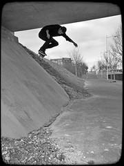 bs 180 (Aurlien Girard) Tags: street france skateboarding spot 180 skate skateboard pont backside blacknwhite reims iphone iphone6