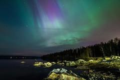 Skyfire (Kasinfoto @ Facebook) Tags: nightphotography camping sea sky cloud seascape green water night stars landscape lights spring nikon long nightscape sweden violet aurora sverige northern f28 borealis shutterspeed vrmland arvika d610 14mm samyang ingestrand samyang14mmf28