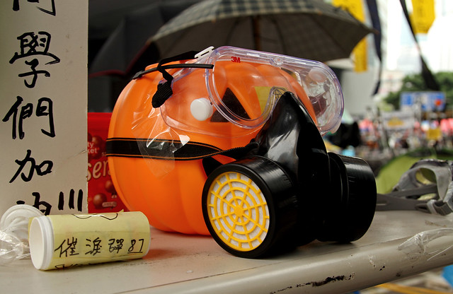 Pumpkin in a Gas Mask
