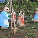 Peter Rabbit Garden figurines
