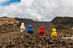 Exploration (#21) - Another Planet (Ballou34) Tags: blue red white reunion yellow canon toy toys photography eos rebel flickr lego stuck space plastic explore planet another exploration afol volcanoe 2016 minifigures toyphotography 650d t4i eos650d legography rebelt4i legographer stuckinplastic ballou34