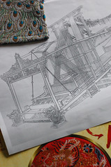 nanjing yunjin brocade loom (WOVEN IN THE BONE) Tags: silk weaving loom handwoven nanjingbrocade yunjinbrocade