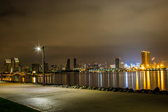 Downtown San Diego from another side (Boxa8) Tags: city longexposure sky water skyline architecture night skyscape landscape outdoors long exposure cityscape waterfront sandiego outdoor coronado waterscape stadtbild lampposts citynight langzeitbelichtung   nighcity drausen alairelibre      stadtamwasser nchtlichestadt nochedelaciudad