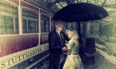 Back home with my love (Luca Arturo Ferrarin) Tags: love rain station secondlife lover welcomeback