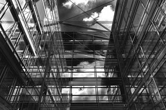 Mirrors (patrickmai875) Tags: street bw cloud white black building art glass architecture clouds canon mirror f14 kunst mirrors wolke wolken sigma architektur sw spiegelbild gebude schwarz glas 6d weis spiegeln strase