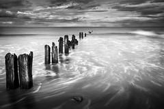 Sandsend Groynes (derekgordon1) Tags: wood longexposure sea sky seascape texture water clouds coast sand nikon timber coastline groynes sandsend sigma1020 d7100 norhyorkshire