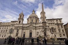 Piazza Navona (jackie.moonlight) Tags: italy rome fountain del four europe rivers piazza quatro fontana bernini navona 2016 santagnese agone fiumi