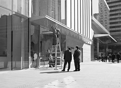 """""""teamwork"""" (hugo poon - one day in my life) Tags: city urban architecture office team watch sunny goodmorning chaterroad x70 teamwork ccbtower"""