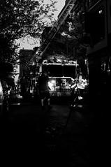 FDNY all hands in the east village (jeffreyjune16) Tags: street nyc urban eastvillage ny newyork night ladder bandw firefighter fdny nite bnw urbanphotography