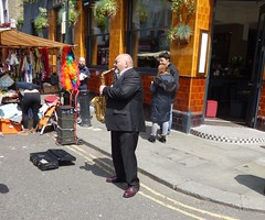 Saxophone (Bury Gardener) Tags: street uk england london candid streetphotography candids streetmarket portobelloroad 2016 streetcandids