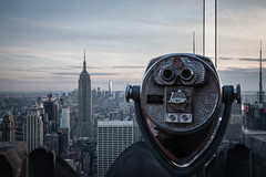 Binoculars, Rockerfeller Observation Deck (Steven J Parkes) Tags: nyc newyorkcity newyork manhattan binoculars manhattanskyline empirestatebuilding empirestate lowermanhattan oneworld rockerfellercentre oneworldobservatory rockerfellercentreobservationdeck