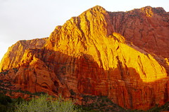 Kolob Canyon alpenglow (Plain Old Steve) Tags: sunset alpenglow