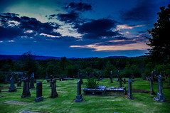 Inverkip Old Cemetery (Brian Travelling Getty Contributor) Tags: uk greatbritain blue sky green graveyard grass clouds scotland pentax unitedkingdom ground historic burial historical inverclyde inverkip oldcemetery pentaxdal pentaxkr