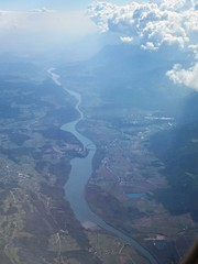 River Drau / Drava and clouds from the air, Austria (Paul McClure DC) Tags: river austria sterreich scenery krnten carinthia fromtheair drava drau may2016