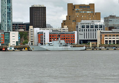 HMS Tyne (P281) at Liverpool, May 2016 (Kay Bea Chisholm) Tags: liverpool birkenhead sixth pierhead royalnavy rivermersey patrolvessel p281 hmstyne riverclass