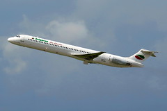 Bulgarian Air Charter - McDonnell Douglas MD-82, LZ-LDN (Bernd 2011) Tags: takeoff starts mcdonnelldouglas dus md82 eddl mcdonnelldouglasmd82 bulgarianaircharter 23l lzldn