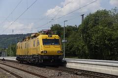 DB Netz Instandhalting 711 205 (99 80 9136 005-2 D-DB Robel 57.44-005) door het station van Schweich 06-06-2016 (marcelwijers) Tags: door station train germany deutschland eisenbahn railway db 99 german het 711 van 80 bahn ddb trein netz duitsland deutsche 205 robel schweich treinstel 9136 schweig 0052 bovenleidings oberleitungstriebwagen 06062016 instandhalting 5744005