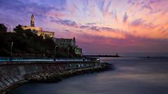 Tel Aviv's sunset looking at old Jaffa (x.grangier) Tags: longexposure telaviv sunset sea sky omd omdem5