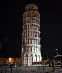 Leaning Tower of Pisa 6 (chriswalts) Tags: travel sunset italy streets tower night pisa leaning