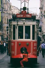 Taksim / Tnel (fahribalta) Tags: street travel red turkey hard like istanbul taksim ocuk tnel