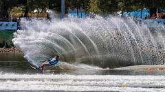 The need for speed (Pat Charles) Tags: melbourne moomba victoria australia yarra river ski skiing water waterski waterskiing slalom race compete competition challenge achieve win victory winner victor speed boat speedboat nikon splash wave 1001nights 1001nightsmagiccity