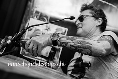 Barry Hay [ May 29, 2016 #329 Explored] (JanvanSchijndel) Tags: city people music white black holland art dutch tattoo geotagged golden artist wine details famous den earring location formation barry hay haag geotag roch netehrlands flyingv paagman