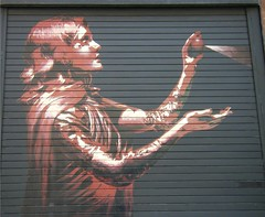 Manchester Northern Quarter, street art (rossendale2016) Tags: street brown art manchester artistic spray quarter northern clever spraying