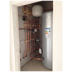 Unvented cylinder. (A.S.Colbert Plumbing + Heating) Tags: new cambridge house building water work construction pipes plumbing cylinder copper plumber stives peterborough heating colbert huntingdon stneots joule unvented