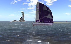 OD65 @NYC - Full speed under Genn (vivipezz) Tags: nyc sailing sl secondlife od65