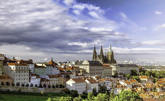 Hradani seen from Petn (rayordanov) Tags: city sky clouds landscape prague praha petn hradani