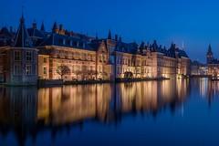 Den Haag (karinavera) Tags: city longexposure travel blue sky urban castle tourism netherlands architecture denhaag hague historical thehague hofvijver lahaya emblematic courtpond nikond5300