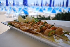 Grilled Shrimp and Squid Skewers (barbaralucchini) Tags: shrimp squid skewers