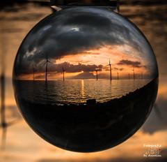 Sunset crystal ball (annelienvdheide) Tags: sunset pentax crystalball glassball glassglobe glazenbol pentaxk5