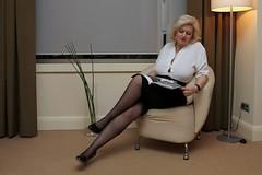 IMG_1248 (Ehrliche Aktfotografie) Tags: highheels skirt blouse nonnude braless verdeckterakt