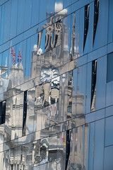 Liver Buildings (Steev McAlister) Tags: reflection building structures architectural items edifice edifices liverbuilding substructures compositionalelements namesof internationalmerseyriverfestival2016