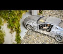 James Bond 1/18 (vapi photographie) Tags: motion scale car speed photoshop movie james miniature model martin garage bond effect diorama aston 118 maquette db9 diecast