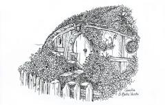 Hobbiton (CamillaDiBellaVecchi) Tags: flowers white house black flower nature casa picture natura lord lotr rings e shire fiori hobbit bianco nero degli hobbiton signore anelli contea